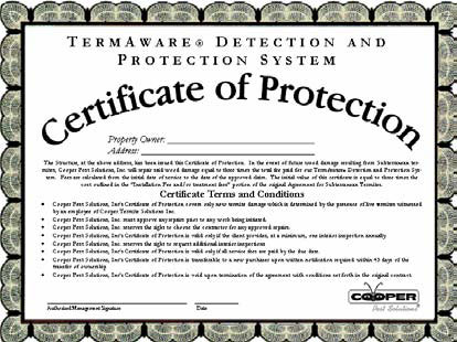 Termaware Certificate of Protection