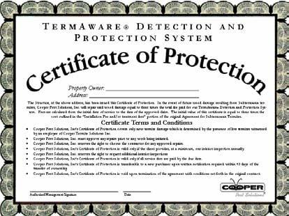 Termite Certificate
